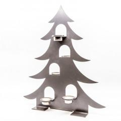 Tannenbaum mit Teelichtern
